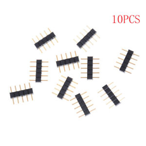 10pcs-5PIN-RGBW-Connector-Adapter-pin-needle-male-type-double-For-LED-Strip-3C