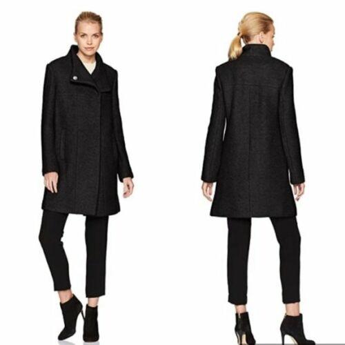 KENNETH COLE Wool Blend Boucle Coat Medium Length