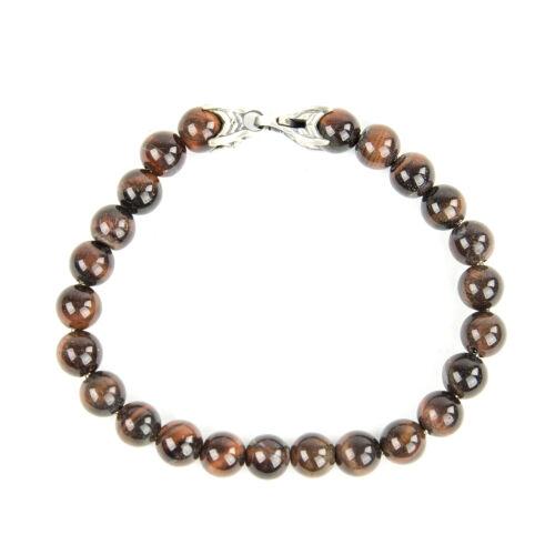 DAVID YURMAN Men/'s Red Tiger/'s Eye Spiritual Bead Bracelet $495 NEW