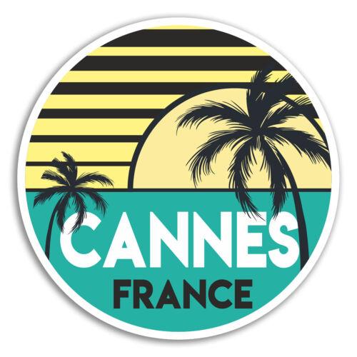 2 X 10cm CANNES Francia Pegatina De Vinilo Pegatinas-Diversión de Viaje Laptop Equipaje #18035
