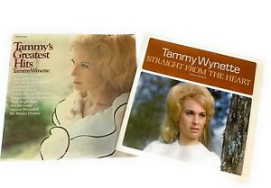 Tammy-Wynette-Straight-From-The-Heart-and-Greatest-Hits-David-Houston-LP-Vinyl