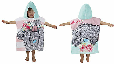 Hooded Cotton Ponchos Beach Bath Swim Towel Kids Boy Girls Disney & Football New