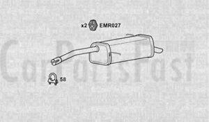 Caja Posterior Trasera de Escape Mazda 323 1.3 gasolina Hatchback 09//1985 a 09//1987