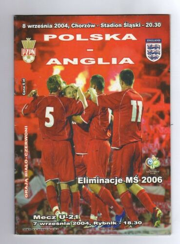 Orig.PRG World Cup Q. 08.09.2004 POLAND ENGLAND! VERY RARE