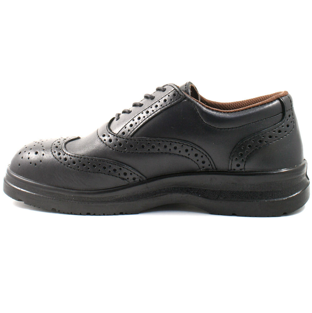 MENS GRAFTERS LEATHER SAFETY SHOES SIZE UK 6 WORK - 12 BROGUE BLACK WORK 6 M776A KD 7b756f