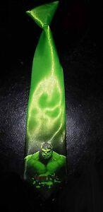 L@@K! KIDS Toddler Incredible Hulk Green satin Elastic Necktie - Bruce Banner