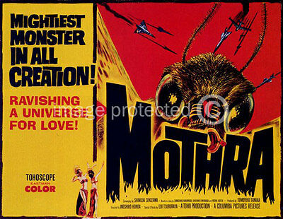 Vintage Science Fiction Horror Movie Poster Mothra 18x24