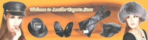 100/% Real Sheepskin Five Finger Leather Gloves New Women/'s Half Palm