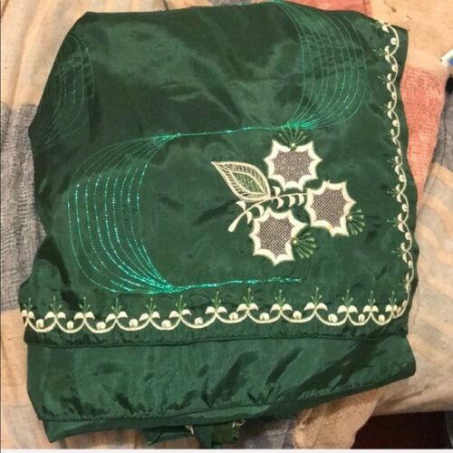 2 Embroidery Silk Indian Sarees (Preowned)