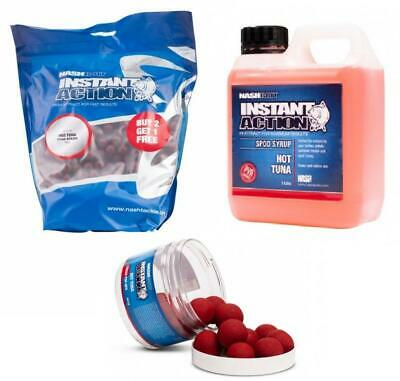 Carp Fishing Baits Nash Instant Action Hot Tuna Boilies /& Syrup