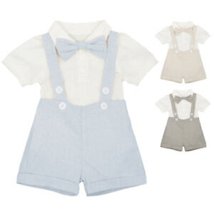 e1243f2b Image is loading Baby-Boy-Gentleman-Romper-Formal-Outfit-Birthday-Wedding-