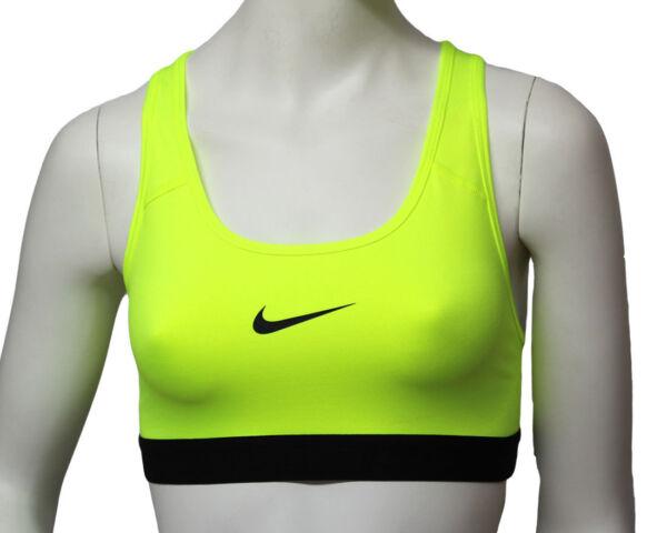 Nike Damen DRI-FIT Sport-BH Pro Classic TOP Sport Fitness Neon Gr. XS Neu