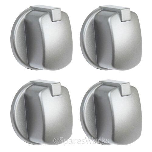 Indesit D/'origine Pour Four Et Cuisinière bouton Argent Inox FIM33K.AIX-T FIM33K.AIXGB X 4 boutons