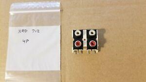 NAD 712 receiver 4P rca jacks  N21037604-2