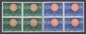 Italia-1960-Europa-Unita-cmpl-2-valori-in-quartina