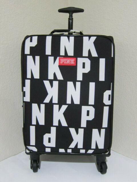 fee99b18fac8 Victoria Secret Pink BLACK DUFFLE CARRY ON BAG WHEELIE SUITCASE TRAVEL  LUGGAGE