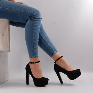 Womens-High-Heel-Stiletto-Platform-Ankle-Strap-Party-Court-Shoe-Ladies-Shoe-Size