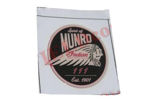Pair Spirit of Munro Indian Motorcycle 111 Est 1901 Round Sticker Decal Set S2u