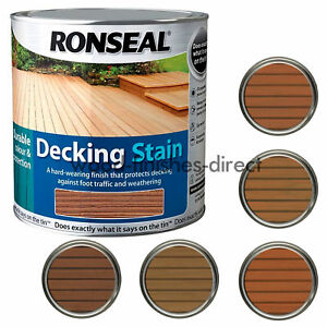 Image Is Loading Ronseal Decking Stain In 5 Natural Shades 2