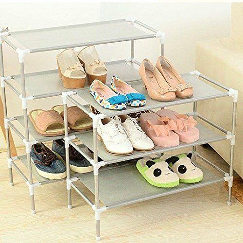 3 Tier Shoe Rack Tower Cabinet Storage Organizer Black Home Holder Shelf