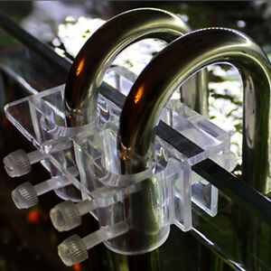 Acrylic-Pipe-Holder-Fix-Bracket-Hook-Aquarium-Lily-Pipe-Filter-Accessory