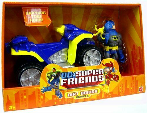 Mattel DC Super Friends Batman Batman Batman with Dirt Driver and Vehicle a87b9b