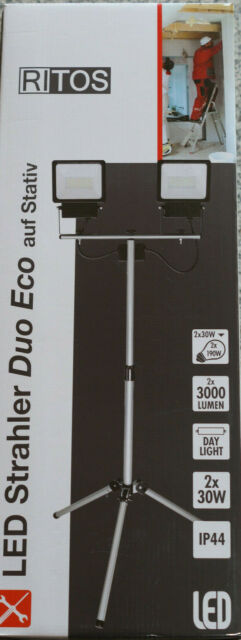 REV Ritos LED Strahler Duo Eco auf Stativ 2x 30W