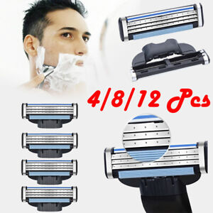 4-8-12-X-Men-Replacement-Blades-For-Gillette-MACH-3-Razor-Shaver-Head-Trimmer