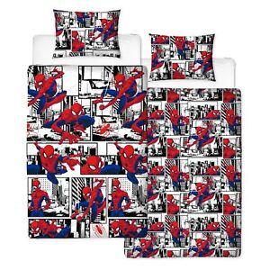 Officiel-Spiderman-Metropole-Housse-Couette-Simple-Set-Super-Heros-Garcons-Salle