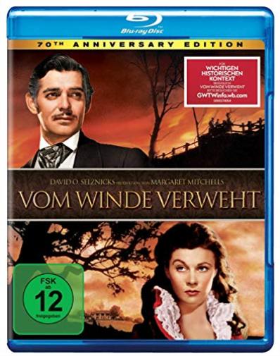 VOM WINDE VERWEHT-70TH ANNIVERSARY EDITION - (GERMAN IMP (US IMPORT) BLU-RAY NEW