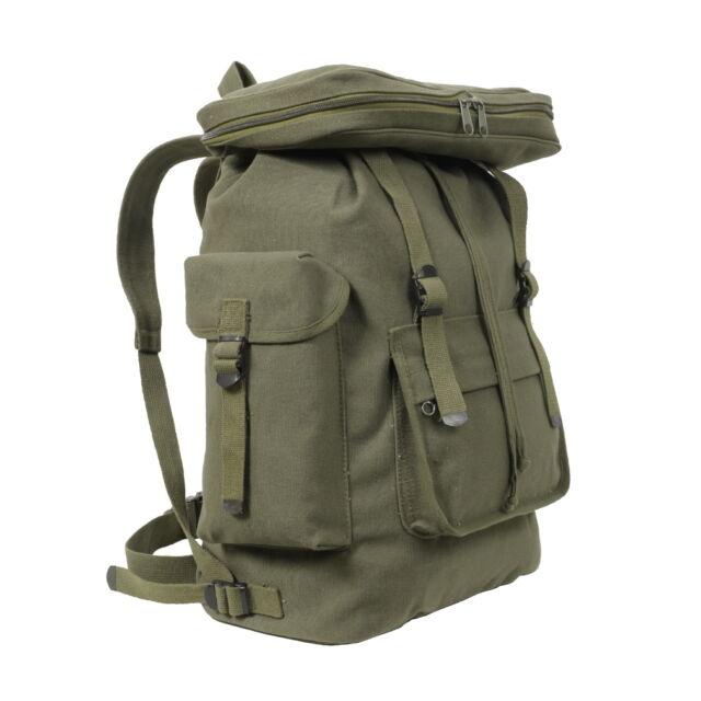 Military Backpacks Rothco Green Canvas European Style ...