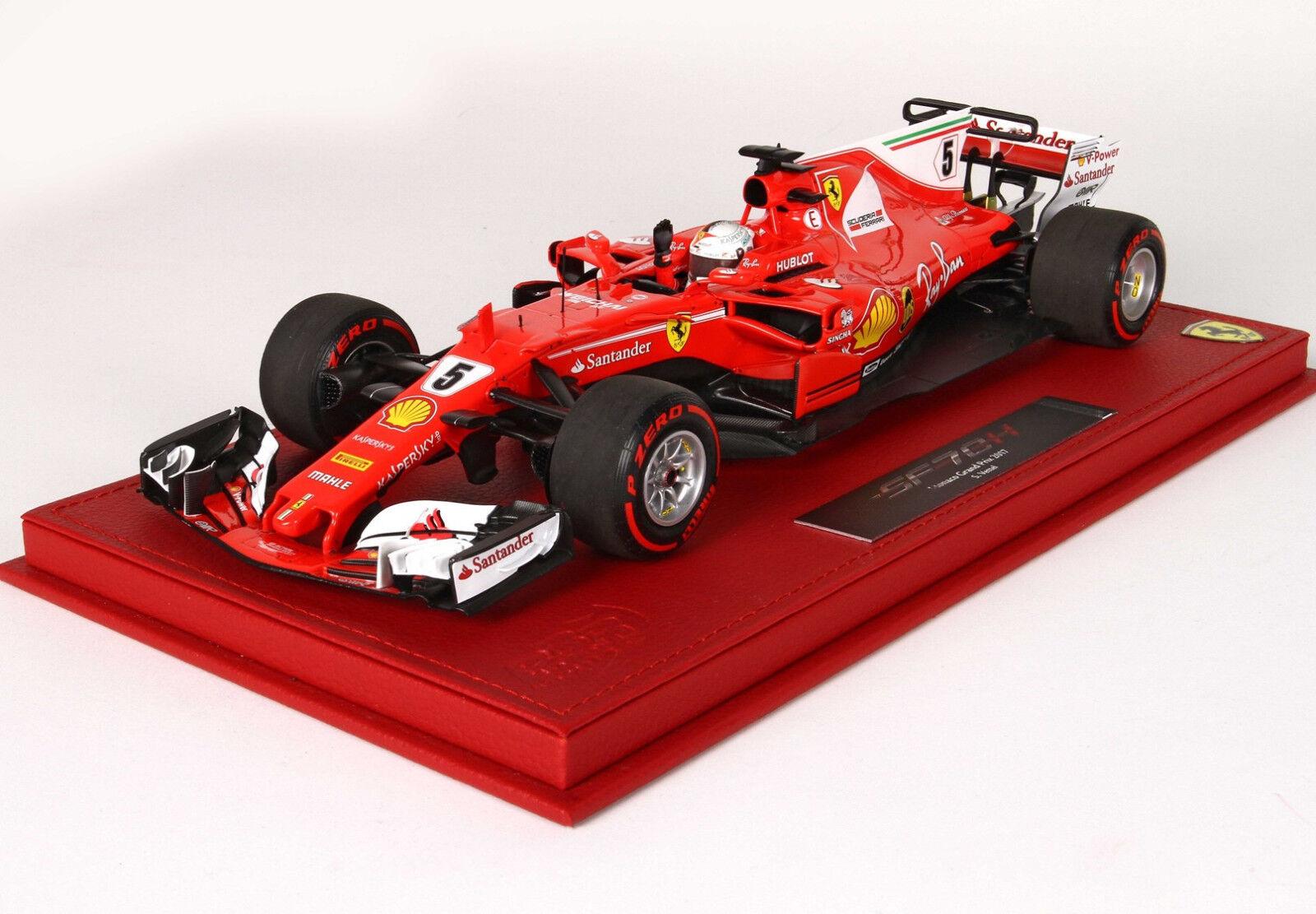 Ferrari SF70-H G.P. Montecarlo 2017 winner S. Vettel 1 18 lim.ed.100 pcs display