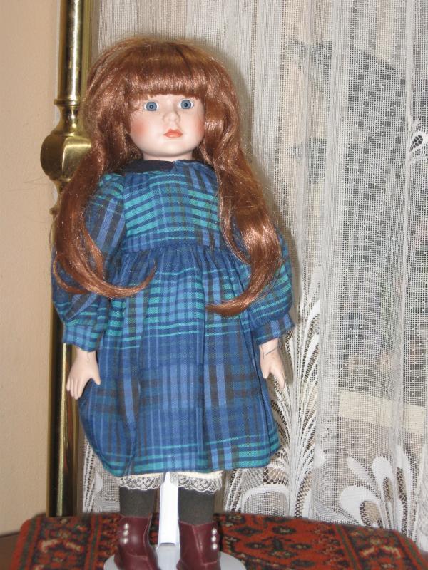 Vintage Rojo de pelo de muñeca de porcelana Colleen 1992 ylm Europa 40 Cm