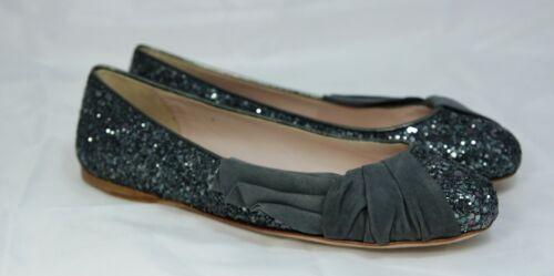 Miu Neuf Chaussures Paillettes Taille 35 Ballerines Mocassins 5 Autrefois Gris anqPar8Aw