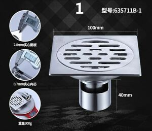 304-Stainless-Steel-Shower-Floor-Drain-Strainer-Square-Bathroom-Grate-Home-Decor