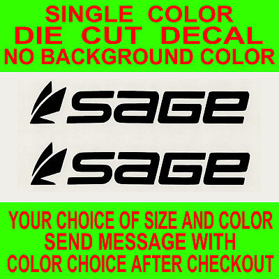 Sage Fly Fishing Die-Cut Vinyl Decal Sticker      19 Colors Available