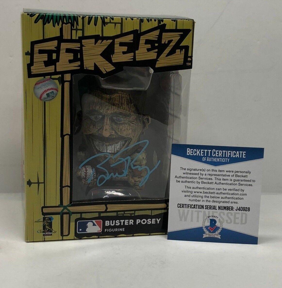 Buster Posey Signed *SF Giants Tiki Foco *Eekeez Baseball Figure Beckett J403928