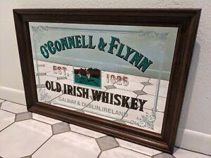 O'Connell Flynn Framed Bar Mirror Galway Bay Distillery Old Irish Whiskey 32x22