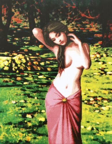 Stickpackung Schönheit 64x50cm Mädchen Frau Lady Woman Vorlage Sticken #80002