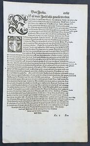 1598-Sebastian-Munster-Antique-Engravings-to-Text-Coat-of-Arms-Kingdom-of-Sicily
