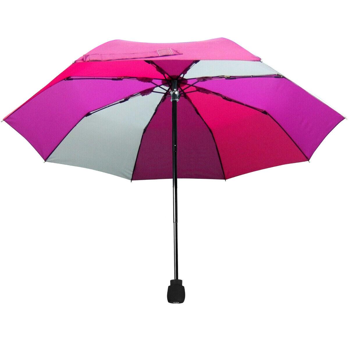EuroSCHIRM Light Trek Umbrella (Purple Panels) Trekking Hiking Lightweight