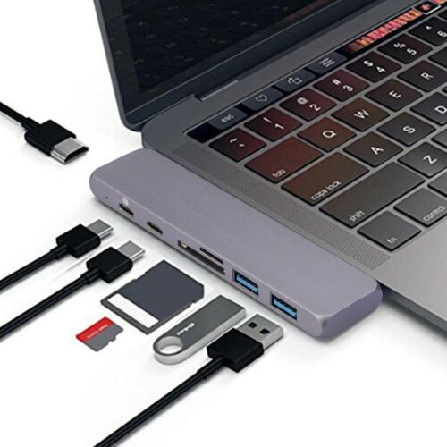 Type-C USB-C Hub Adapter Multi Port Thunderbolt 3 For MacBook Pro//Air 2018 2017