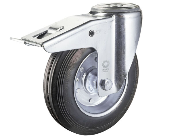 3 Sätze Transportrollen 75 mm Möbelrollen Lenkrollen TK 300 kg Platte Bremse