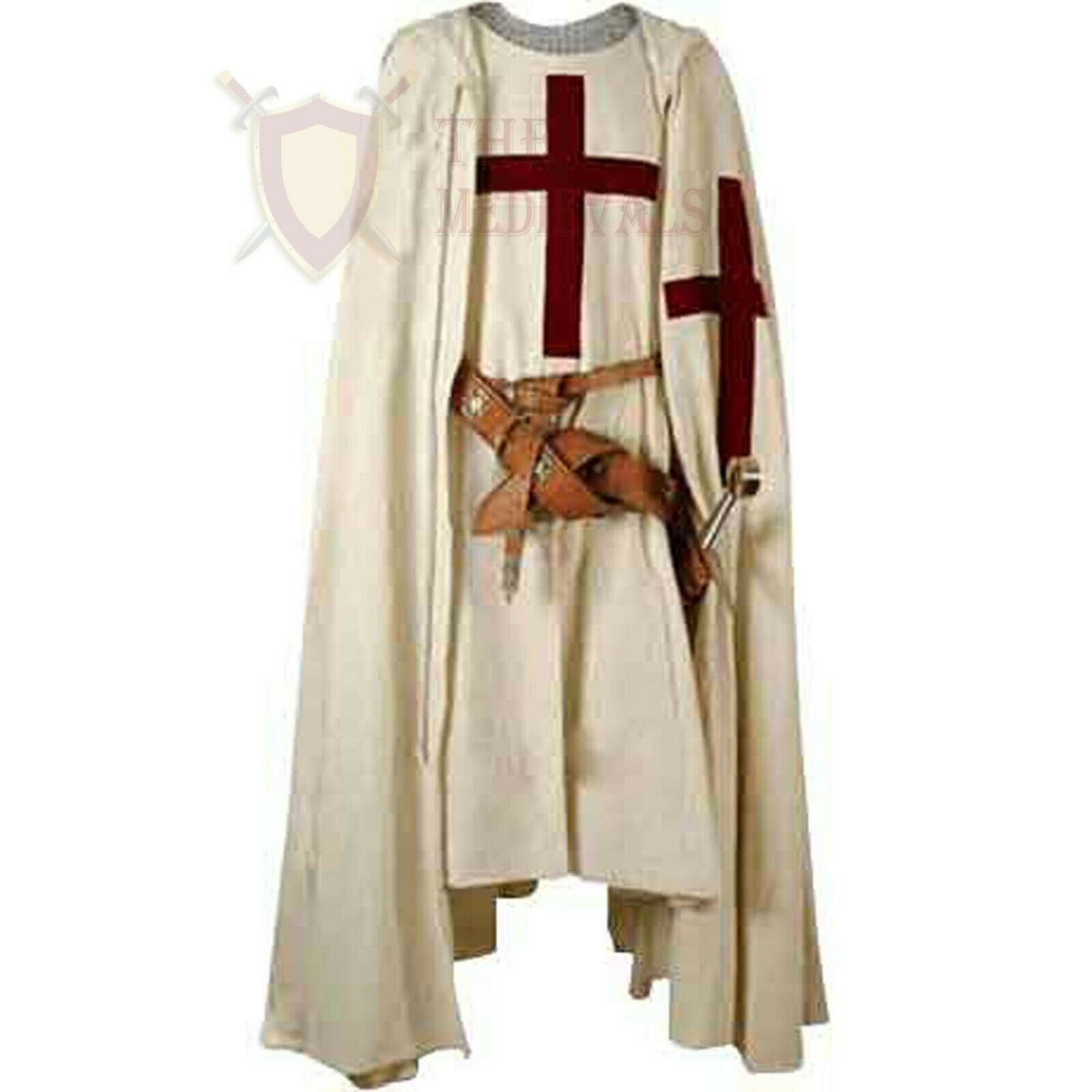 THE MEDIEVALS Crusaders Cape Cotton Tunic SCA Armor plane costume Dress Active