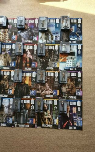 DOCTOR WHO FIGURINE COLLECTION BBC 40 figures with magazines