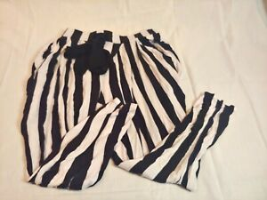 Wet-Seal-Women-039-s-size-Large-L-Stretch-Pants-Beetle-Juice-Black-White-Striped