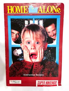 Home Alone Original Instruction Booklet SUPER NINTENDO SNES Book Manual