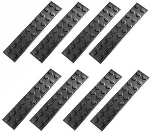 Lego Dark Bluish Grey Plate 2x10 8 pieces NEW!!!
