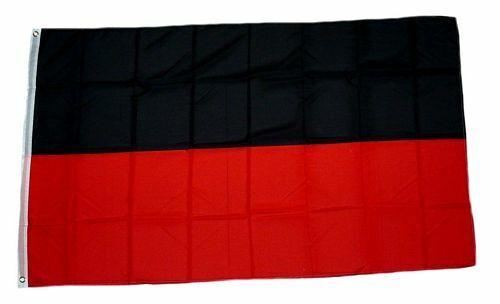 Flagge Fahne schwarz rot Hissflagge 90 x 150 cm