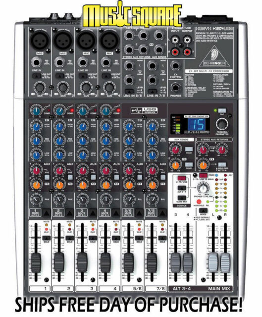 Behringer X1204USB 12-Channel Mixer - X 1204 USB *used* PERFECT - FAST SHIPPING!